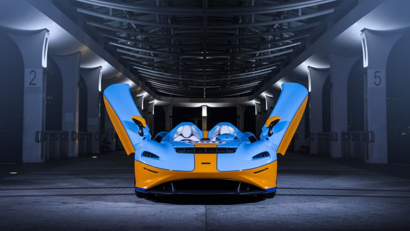 McLaren Elva, Gulf Theme, 2021, 5K, 8K, Wallpaper
