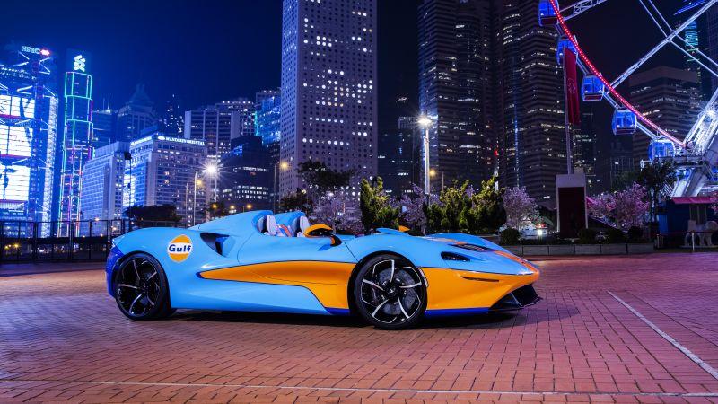 McLaren Elva, Gulf Theme, 2021, 5K, Wallpaper