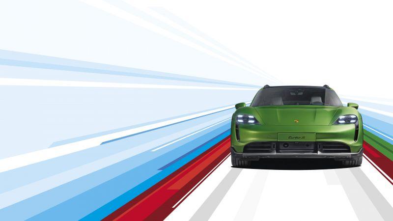 Porsche Taycan Turbo S Cross Turismo, 2021, 5K, Wallpaper