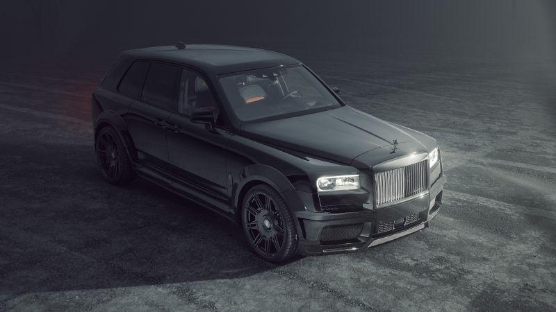 Rolls-Royce Cullinan Black Badge, Spofec, Black cars, 2021, 5K, 8K, Wallpaper