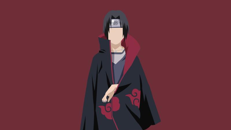 Itachi Uchiha, Naruto, Minimal art, 5K, 8K, Wallpaper