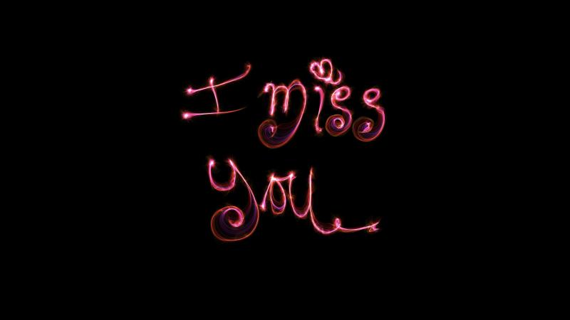 I Miss You, AMOLED, Black background, 5K, Wallpaper