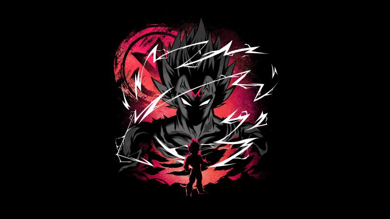 Vegeta, Dragon Ball Super, Black background, Wallpaper