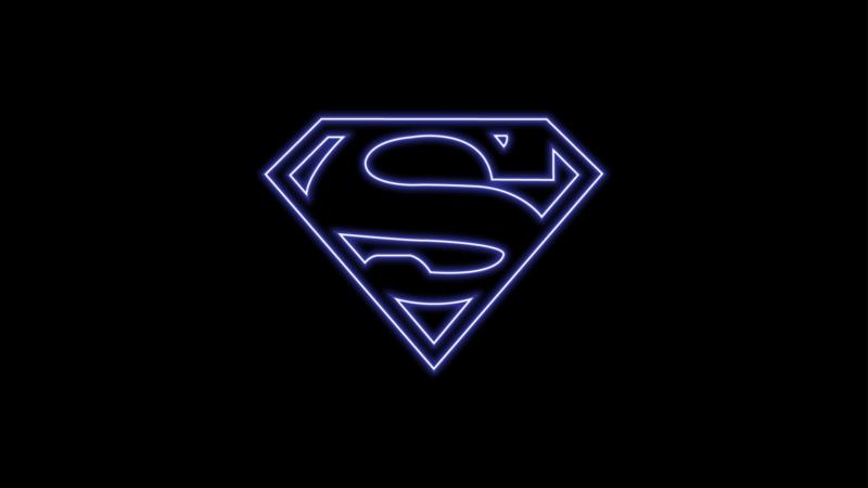 Superman, Logo, DC Superheroes, AMOLED, Wallpaper