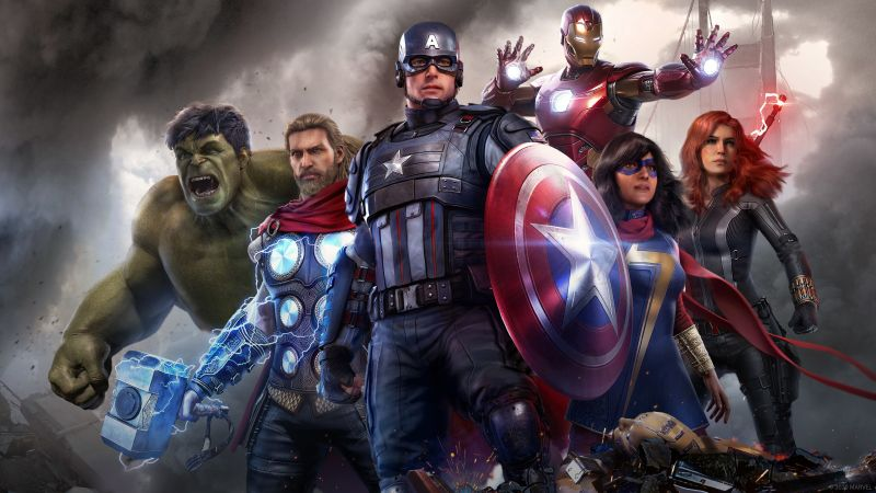 Marvel's Avengers, Marvel Superheroes, PlayStation 4, PlayStation 5, Xbox One, Xbox Series X and Series S, Google Stadia, PC Games, Wallpaper