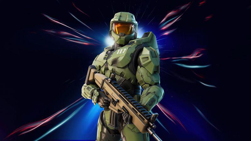 Master Chief, Fortnite, Skin, 2021 Games, Wallpaper
