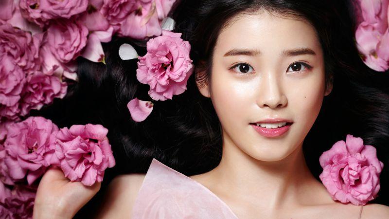 IU, South Korean Singer, K-Pop singer, Asian, Beautiful, 5K, Wallpaper