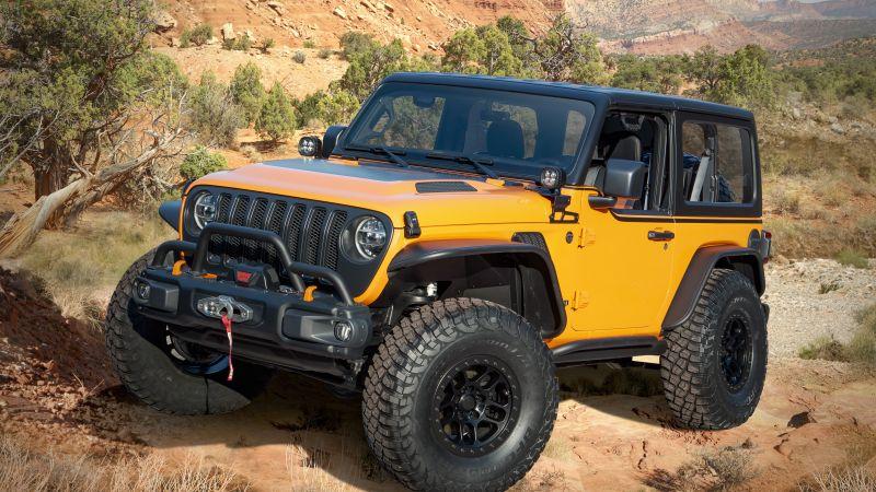 Jeep Orange Peelz, 2021, Off-roading, Wallpaper