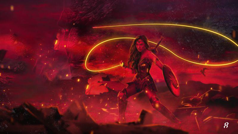 Wonder Woman, Zack Snyder's Justice League, 2021 Movies, 5K, Wallpaper