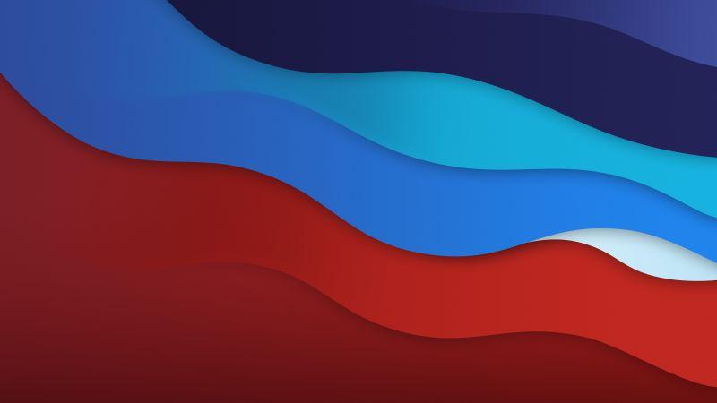 Waves, macOS Big Sur, Colorful, Dark, 5K, Wallpaper