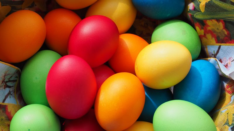 Easter Eggs, Colorful eggs, Easter Decoration, Happy Easter, Multicolor, Wallpaper