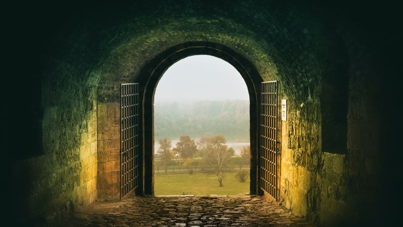Belgrade Fortress, Entrance, Beograd, Serbia, Ancient architecture, Gate, Arch, Field, Kalemegdan Fortress, 5K, Wallpaper