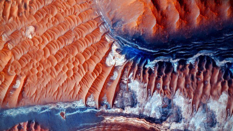 Desert, Mars, Aerial view, 5K, 8K, Wallpaper
