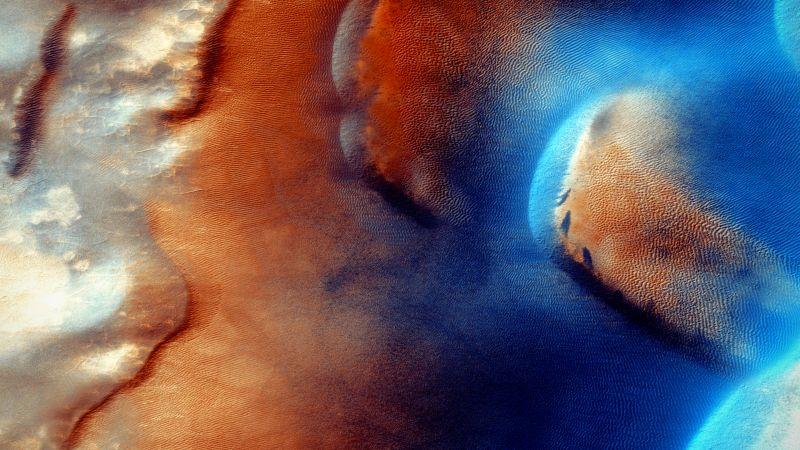 Mars, Surface, Aerial view, 5K, Wallpaper