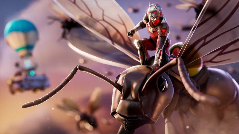 Ant-Man, Fortnite, Skin, 2021, Wallpaper