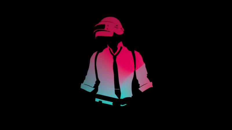 PUBG, PlayerUnknown's Battlegrounds, AMOLED, Black background, Minimal, 5K, Wallpaper