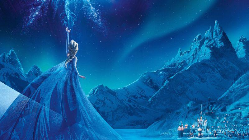 Frozen, Elsa, Disney Princess, Animation, Wallpaper