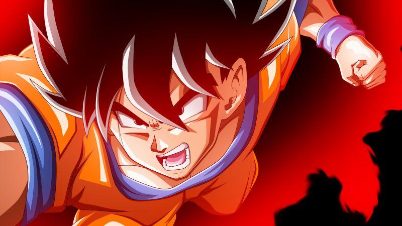 Kaio-ken, Goku, Dragon Ball Z, 5K, Wallpaper