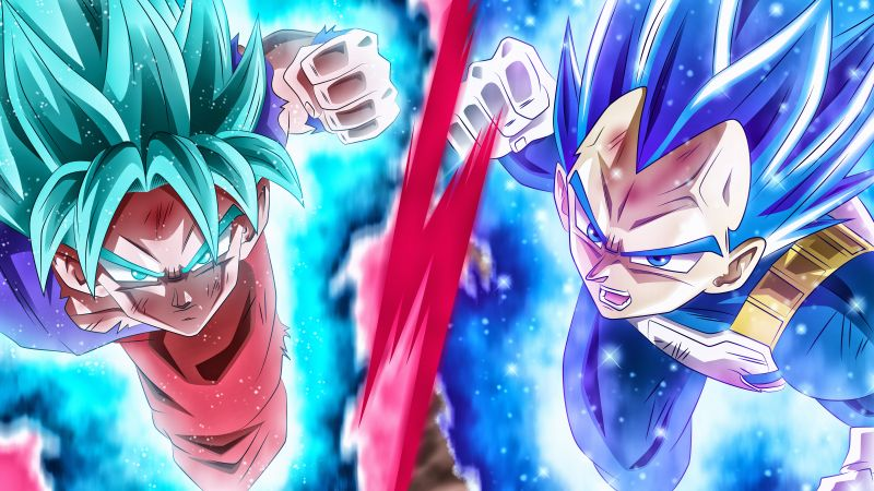 Goku, Vegeta, Dragon Ball Super, 5K, 8K, Wallpaper