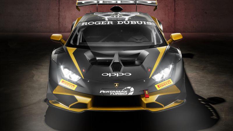 Lamborghini Huracan Super Trofeo EVO, 2021, Wallpaper