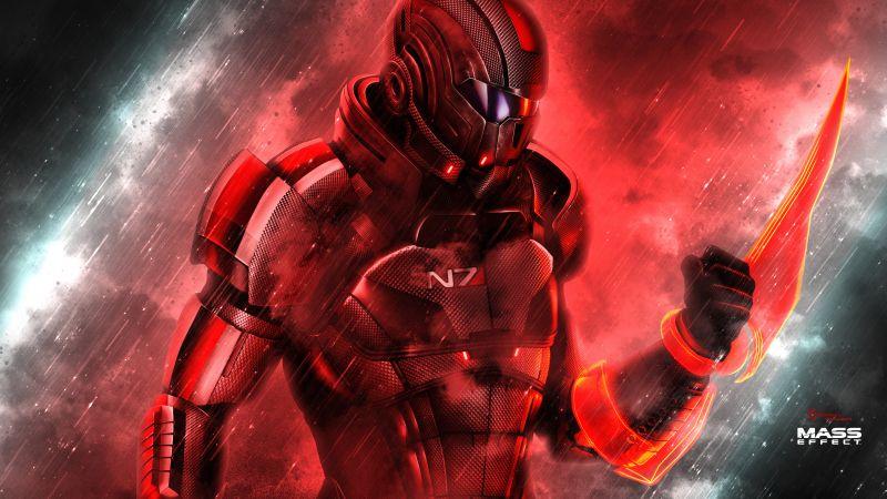 Mass Effect: Andromeda, Shepard, N7 Armor, Wallpaper