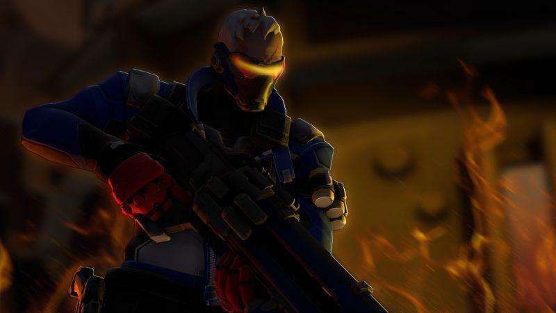 Soldier 76, Overwatch, Artwork, Wallpaper