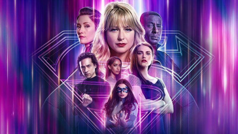 Supergirl, Season 6, 2021, David Harewood, Chyler Leigh, Jesse Rath, Azie Tesfai, Melissa Benoist, Katie McGrath, Nicole Maines, Wallpaper