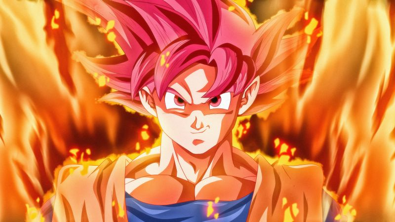 Super Saiyan God, Goku, Dragon Ball Super, 5K, Wallpaper