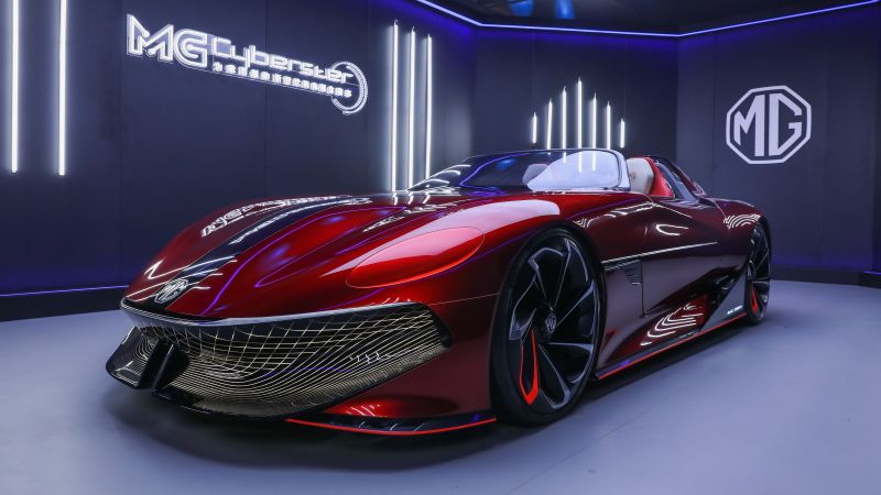 MG Cyberster Concept, Electric Sports cars, EV Concept, 5K, 2021, Wallpaper