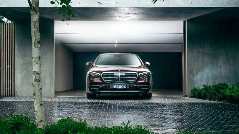 Mercedes-Benz S 450 lang 4MATIC AMG Line, 2021, Wallpaper