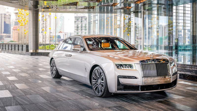 Rolls-Royce Ghost EWB, 2021, Wallpaper