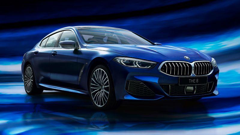 BMW 8 Series Gran Coupé, Collector's Edition, Blue, 2021, Wallpaper