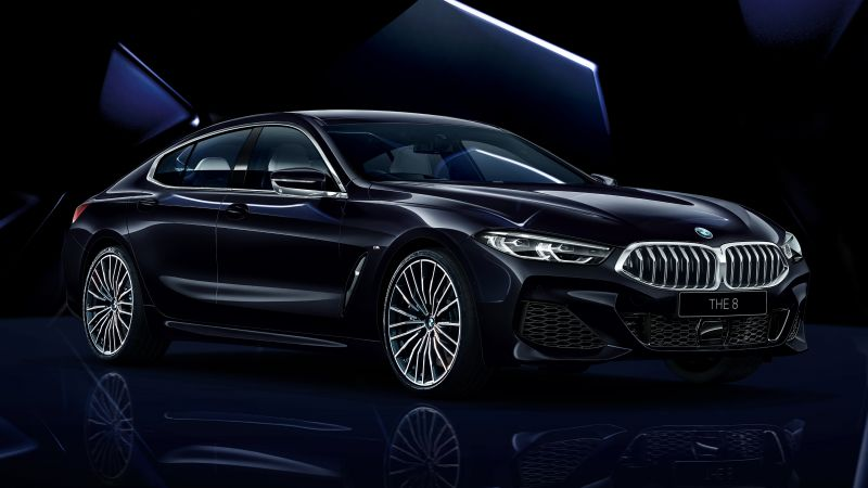 BMW 8 Series Gran Coupé, Collector's Edition, Dark background, 2021, Wallpaper