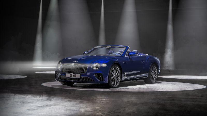 Bentley Continental GT Speed Convertible, 2021, Dark background, Wallpaper