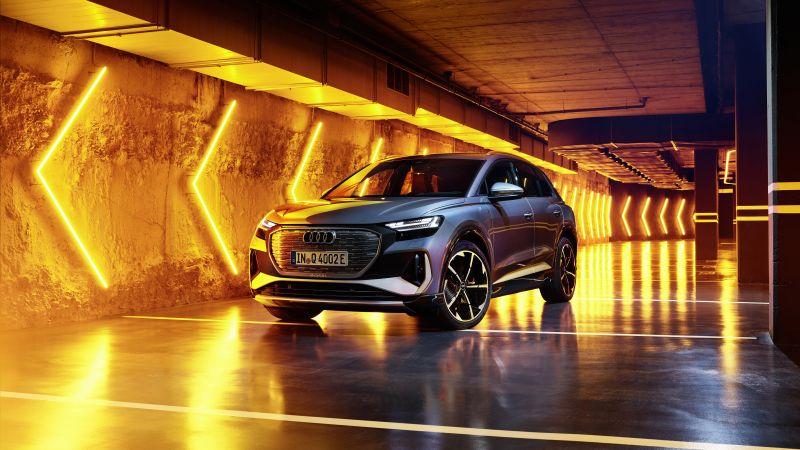 Audi Q4 50 e-tron S line, 2021, 5K, Wallpaper