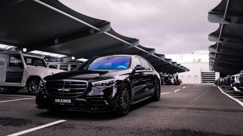 BRABUS 500, Mercedes-Benz S 500 L 4MATIC, 2021, Black cars, 5K, Wallpaper