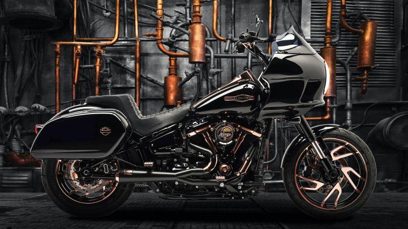 Harley-Davidson Sport Glide, Battle of the Kings, Moonshine, Custom tuning, Wallpaper