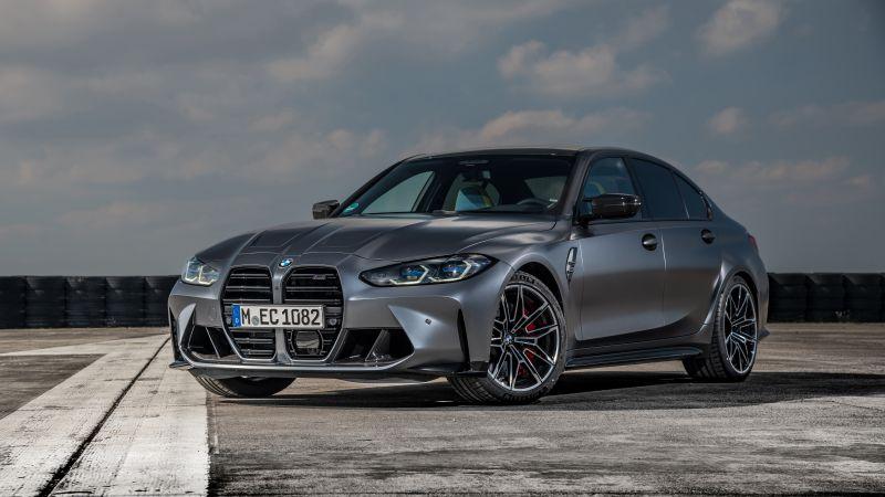 BMW M3 Competition xDrive, 2021, 5K, 8K, Wallpaper
