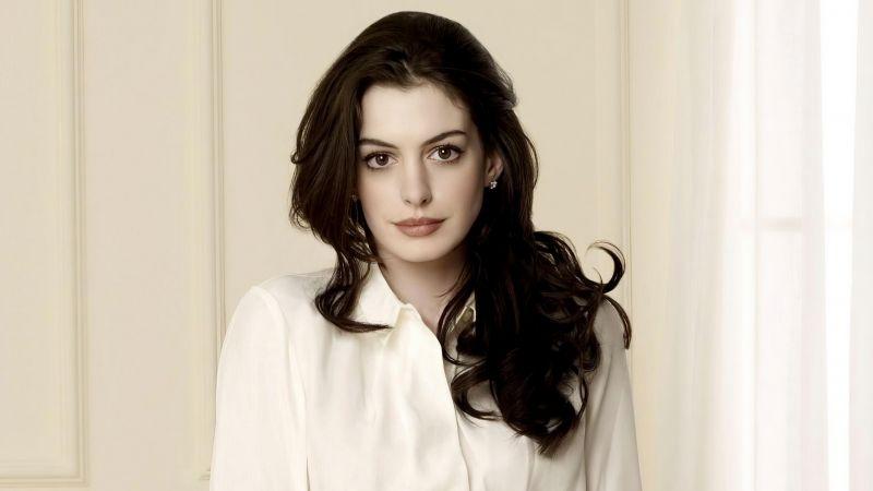 Anne Hathaway, American actress, Beautiful actress, Wallpaper
