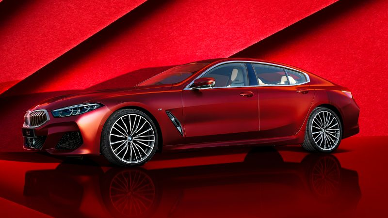 BMW 8 Series Gran Coupé, Collector's Edition, Red, 2021, Wallpaper