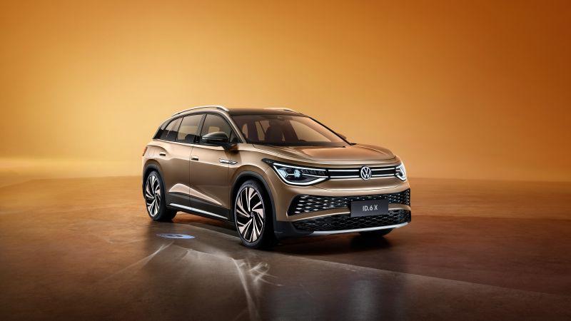 Volkswagen ID.6 X Prime, Electric cars, 2021, 5K, Wallpaper