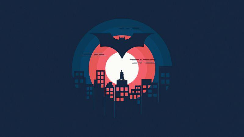 Batman, DC Superheroes, Dark background, Minimal art, 5K, Wallpaper