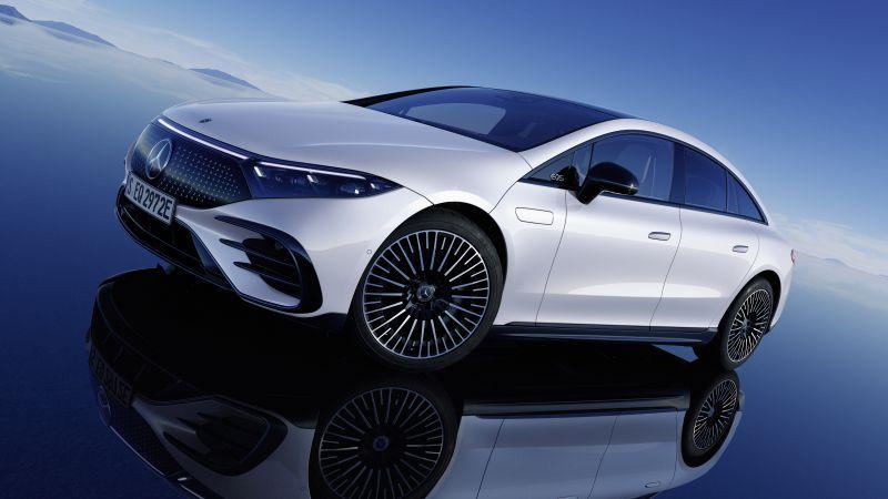 Mercedes-Benz EQS 580 4MATIC AMG Line, Electric cars, 2021, 5K, Wallpaper