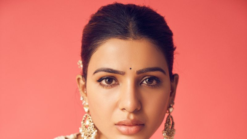 Samantha, Indian actress, South Actress, Portrait, 5K, Wallpaper