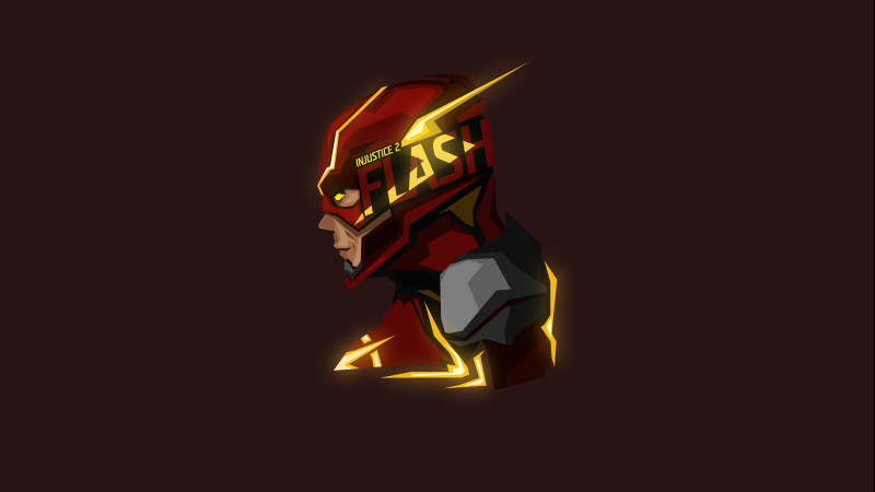 The Flash, DC Superheroes, Minimal art, Low poly, DC Comics, 5K, 8K, Wallpaper