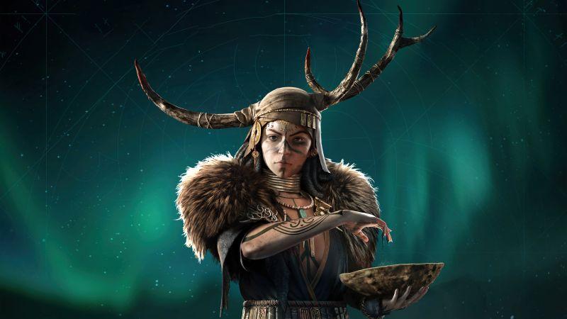 Valka the Seer, Assassin's Creed Valhalla, 2021 Games, 5K, 8K, Wallpaper