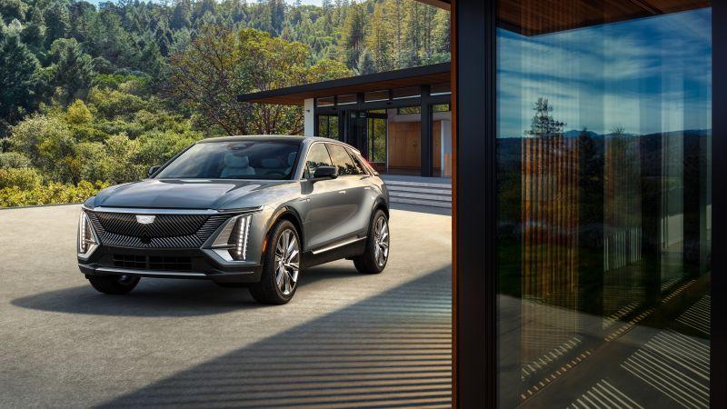 Cadillac Lyriq, Electric crossover, Electric SUV, 2023, 5K, Wallpaper