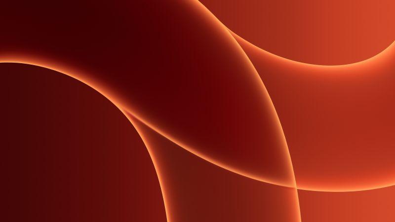 iMac 2021, Apple Event 2021, Stock, Orange background, 5K, Wallpaper