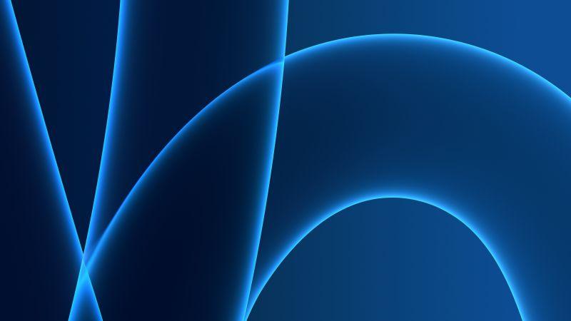 iMac 2021, Apple Event 2021, Stock, Blue background, 5K, Wallpaper