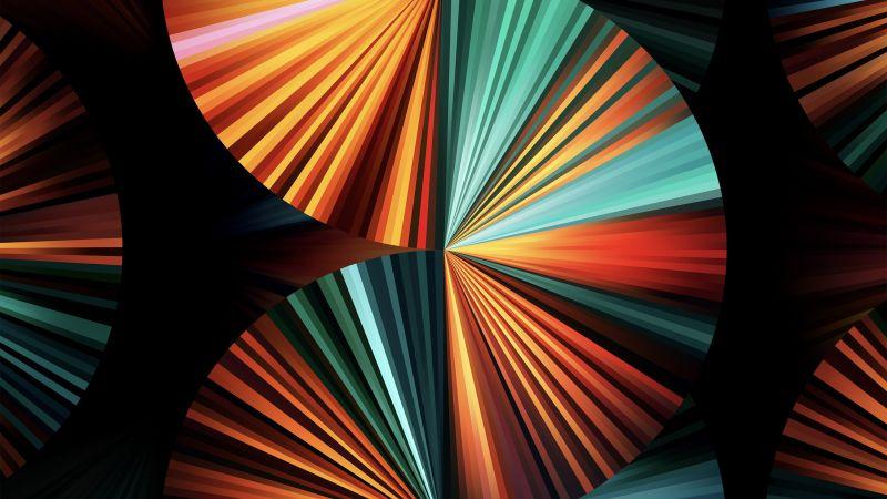 iPad Pro 2021, Apple Event 2021, Green, Colorful, Stock, Multicolor, Wallpaper